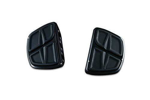 Kuryakyn 7613 Motorcycle Accessory: Kinetic Mini Board Floorboards without Adapters, Gloss Black, 1 Pair (Passenger Adjustable Pegs Kuryakyn)