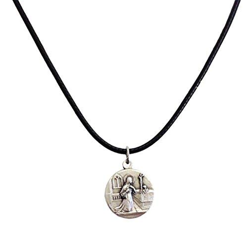 Medal of Saint Rita of Cascia with String Cord - The medals of the Patron Saints