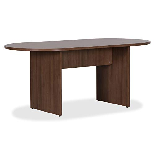 Lorell Essentials Conference Table, Walnut Laminate