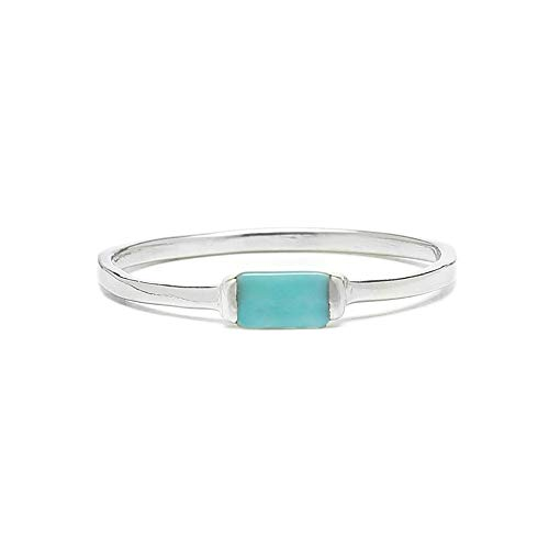 - Pura Vida Silver Baguette Stone Ring Size 7 - .925 Sterling Silver Ring