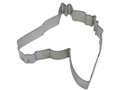 R&M Cookie Cutter, 4.5-Inch, Horse Head, Tinplated Steel