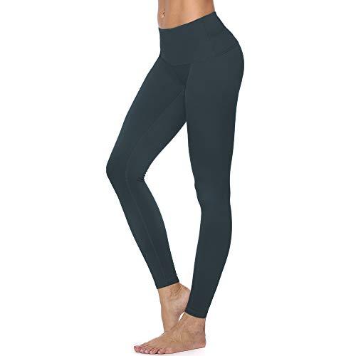 RURING Women's High Waist Yoga Pants Tummy Control Workout Running 4 Way Stretch Yoga Leggings Olive Green