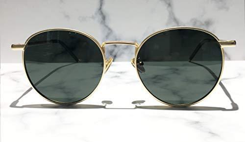 film Conductor Cara Sol Personalidad De FKSW De De Hombres Sol ink Gafas Gold Conducción Espejo Gafas Polarizador HD De Sol frame Hipster Gafas green Redonda Gafas HHq74