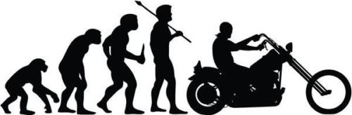 Evolution of Chopper Motorcycle Graphic Car Truck Window Decor Decal Sticker - Die cut vinyl decal for windows, cars, trucks, tool boxes, laptops, MacBook - virtually any hard, smooth surface