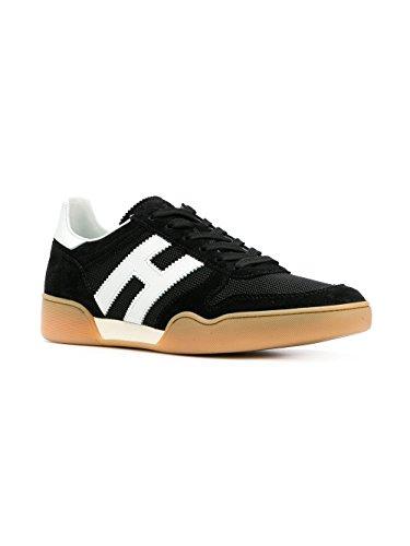 Hogan Sneakers Uomo H357 Mod. HXM3570AC40IPJ0002 in Camoscio e Tessuto Nero 9