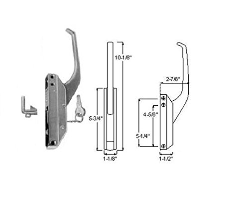Component Hardware R35 Series Edgemont Latch (Offset Handle Latch Complete with Key)
