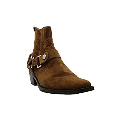 DKNY Womens Mina Suede Almond Toe Ankle Fashion Boots, Brown, Size 2