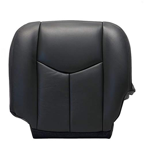 ECOTRIC New Leather Driver Bottom Seat Cover Dark-Gray for 2003-2006 Chevy Silverado 1500 2500 ()