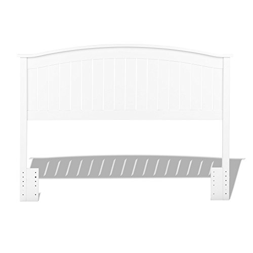 Finley Wooden Headboard Panel with Curved Top Rail Design, White Finish, Full / Queen by Fashion Bed Group