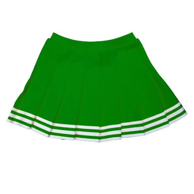 Elastic Waist Knife Pleat Skirt (Kelly Green, Adult 3 Extra Large) (3 Pleat Cheer Skirt)