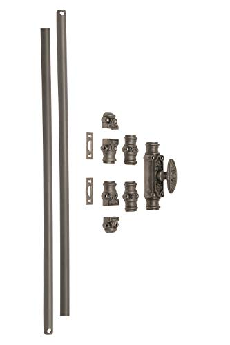 A29 Hardware 6 Feet Iron Cremone Bolt for Windows, Antique Iron Finish Finish by A29 (Image #2)