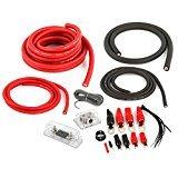Belva Complete 1/0 + 4 Gauge [RED] Copper-Clad Dual Amp Wiring Kit [BPK0D]