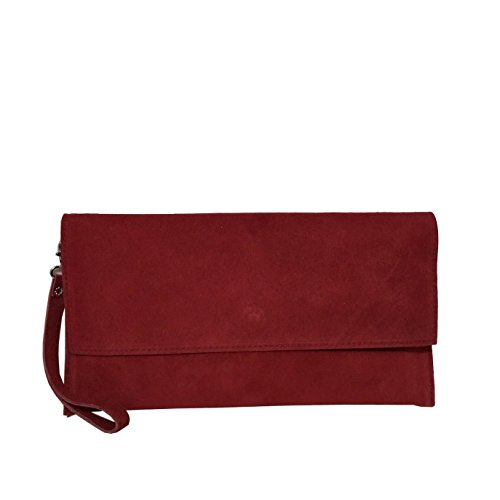 Suede Envelope Berry Clutches Leather Real Evening Style Cross Clutch Genuine Long Bag Large body wxOEUAq8E
