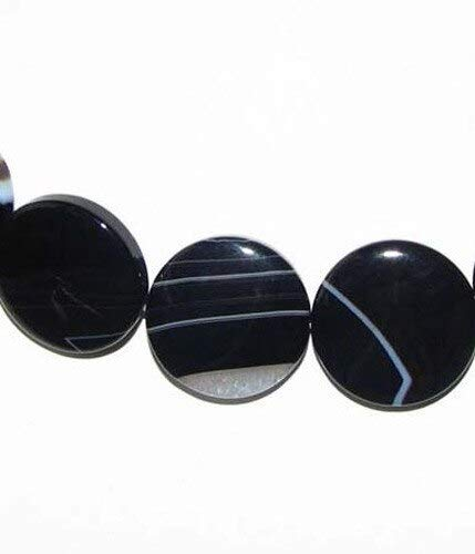 (3 Sardonyx Agate 20x5mm Coin Beads for Jewelry Making)
