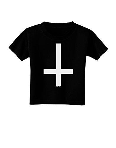 TOOLOUD Inverted Cross Toddler T-Shirt Dark Black - 4T