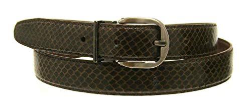 Boys Girls Belt Brown 25mm 1inch Wide Genuine Snake Skin Up To 42