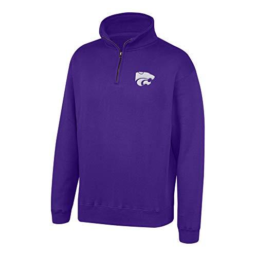 (Top of the World NCAA Men's Kansas State Wildcats Team Color Classic Quarter Zip Pullover Purple Medium)