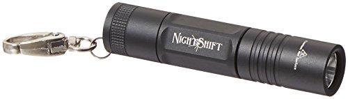 (Phoebus Tactical PLO-01 NightShift Keychain Flashlight, LED 1xAA, Black)