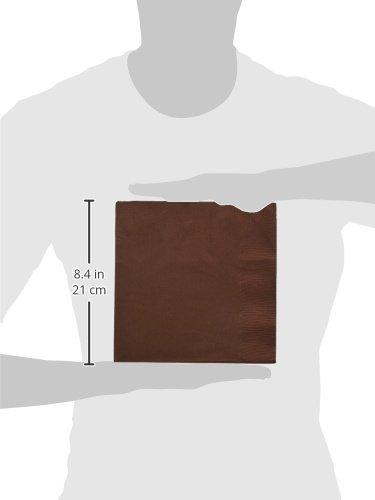 240 ct 52215.110999999997 Chocolate Brown 2-Ply Dinner Napkins TradeMart Inc Party Supply