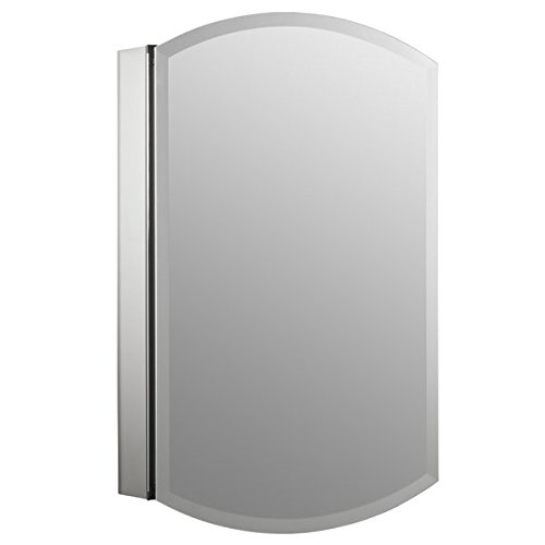 20'' x 31'' Aluminum Wall Mount Medicine Cabinet with Mirrored Door All Rust-free Construction Full Overlay Door Design Two Adjustable Tempered-glass shelves Flexible Installation Options by AVA Furniture