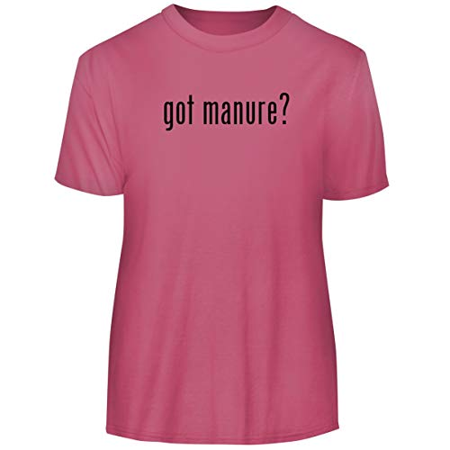 One Legging it Around got Manure? - Men's Funny Soft Adult Tee T-Shirt, Pink, X-Large ()