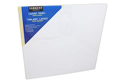 Sargent Art 90-3009 18x18-Inch Canvas Panel, 100% Cotton [並行輸入品]   B07T8PHBFH