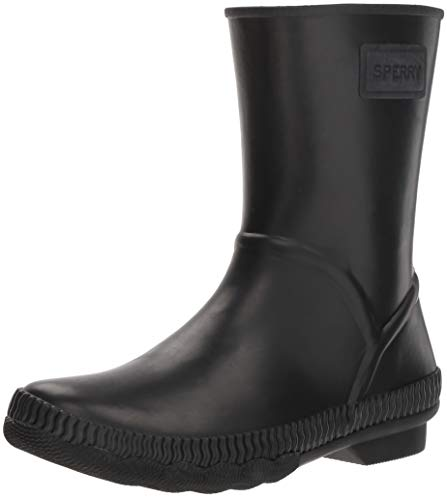 Top Sperry Boot Women's Current Rain Black Saltwater Sider 4PPSxv