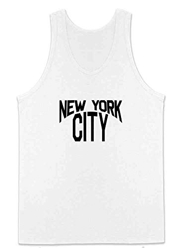 New York City Lennon Classic Halloween Costume White XL Sleeveless Shirt Tank Top Mens