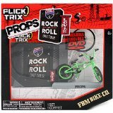 Spinmaster Flick Trix Fingerbike ''Real Bikes, Unreal Tricks'' BMX Bicycle Miniature Set - Green Color FBM BIKE CO. with Display Base and DVD Props ''Rock N Roll BMX Tour by Levis'' by Flick Trix