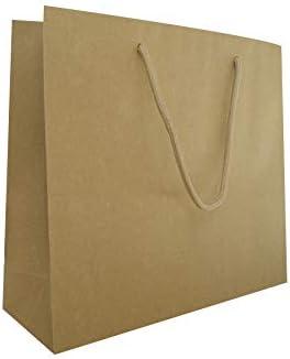 Carte Dozio – Bolsa de papel reciclado Avana, asa de cuerda de algodón, f.to 32 + 10 x 27 + 5, 25 unidades: Amazon.es: Oficina y papelería