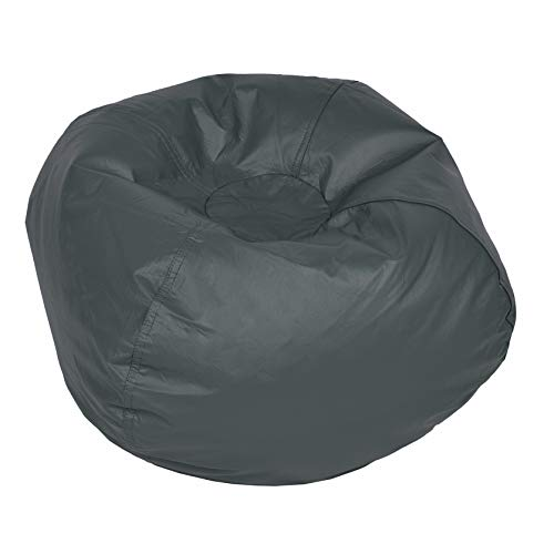 ACEssentials Vinil Bean Bag Chairs for Kids and Teens, Grey
