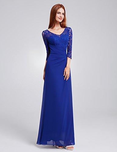 Bleu De Moulante En Longue Robe Manche Ever pretty Saphir Soirée Bal 08861 EqxOxTgvwX