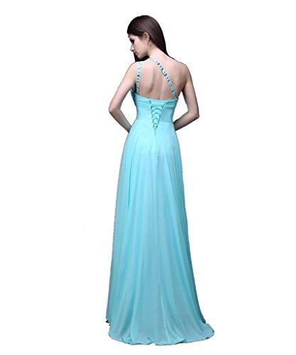 Kmformals Damen eine Schulter lange prom Kleider Himmel Blau i4pD20 ...