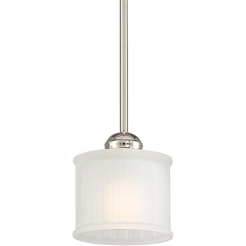 Minka Lavery Pendant Ceiling Lighting 1731-613, 1730 Series Mini Drum, 1 Light, 100 Watts, Polished (1 Light 100w Mini)