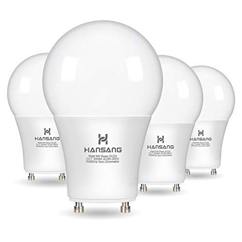 A19 LED Bulb Hansang Gu24 Light Bulb Base,9W (100W Equivalent),900 Lumens,5000K Daylight,220 Degree Beam Angle,Gu24 Twist Base,for CFL Upgrade,Non-Dimmable 4 Pack [並行輸入品] B07RB6VW1W