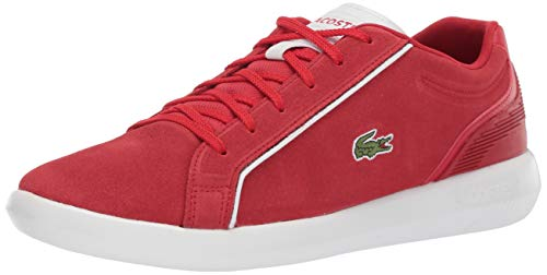 Lacoste Men's AVANTOR Sneaker, red/white, 11 Medium ()