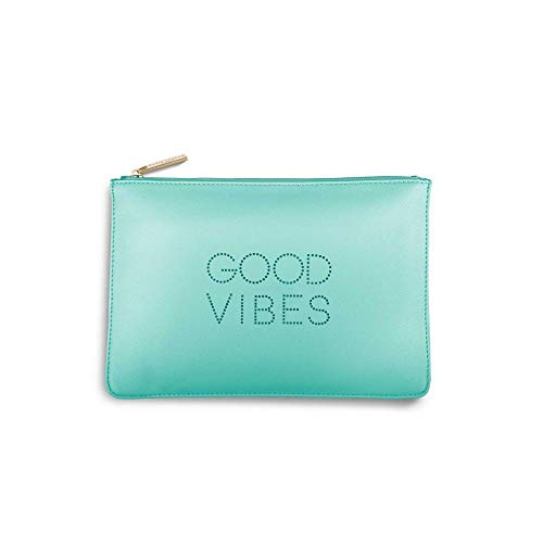 Katie Loxton Polka Dot Pouch Good Vibes Seafoam Green Women's Faux Leather Clutch Perfect Pouch