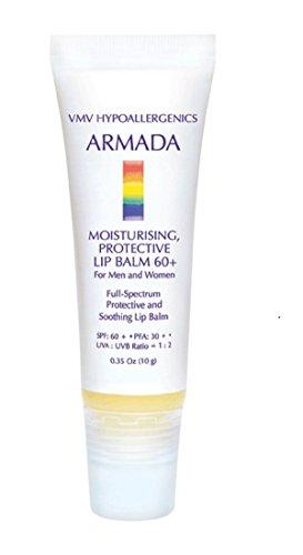 VMV Hypoallergenics Armada Moisturizing Protective Lip Balm 60+, 0.35 Ounce