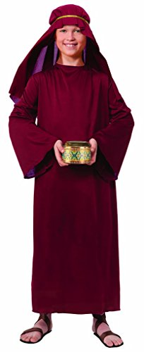 Faerynicethings Child Size Wiseman Costume - Burgandy - Small 4-6 ()