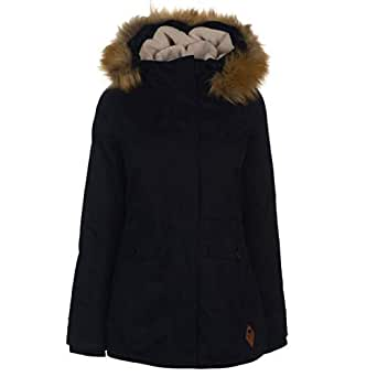 SoulCal Short Parka Jacket Womens Black Coats Outerwear UK 10 (Small)