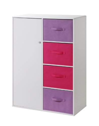 Girls Armoire - 4D Concepts Girls 4 Drawer Armoire -