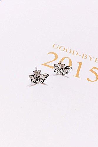 KENHOI Beauty thai s925 silver earrings earings dangler eardrop butterfly by KENHOI Beauty