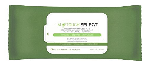 Medline Aloetouch Select Premium Spunlace Personal Cleansing Wipes, 64 Count ()