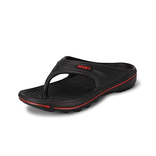 Hivot Flip-Flops Men's Slippers Beach Shoes Skidproof Bathing Slippers Summer Thong Sandals Outdoor Shoes Slides ()
