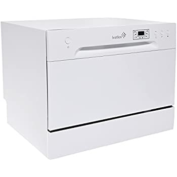 Ivation Countertop Dishwasher – Compact, Portable Stainless Steel Dishwasher for Apartment, Condo, RV, Office & Other Small Kitchens – 6 Place Setting Capacity – White