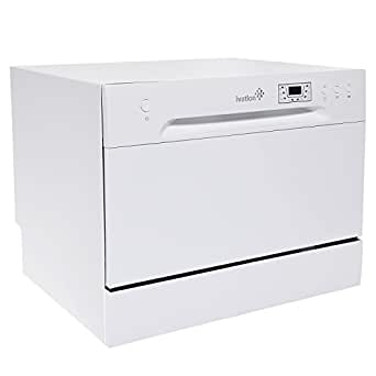 Ivation Portable Dishwasher – Countertop Small Compact Dishwasher for Apartment, Condo, RV, Office & Other Small Kitchens – 6 Place Setting Capacity – White