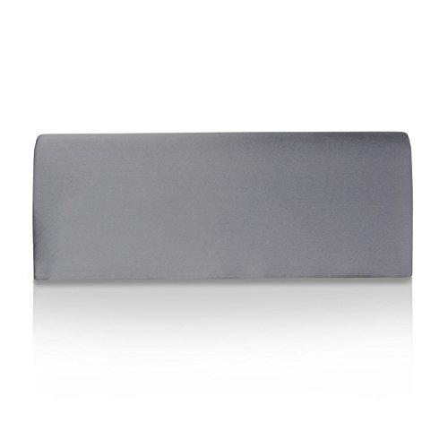 Glamexx24- Bolso de mano para mujer, de satén, ideal para boda o fiesta gris