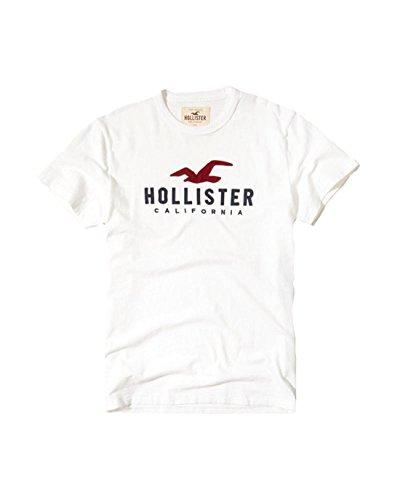 Hollister Mens T Shirt Henley V Neck  M  White 299
