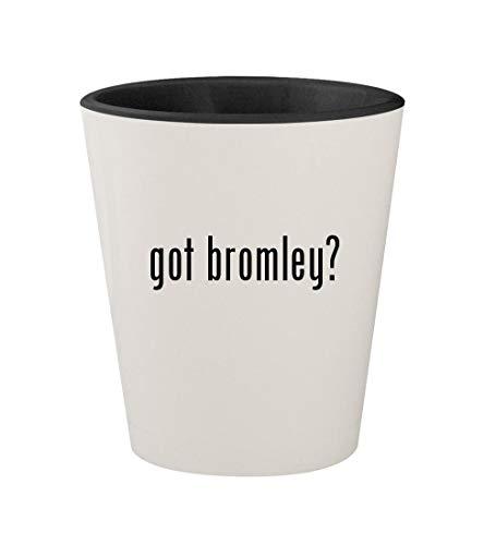 - got bromley? - Ceramic White Outer & Black Inner 1.5oz Shot Glass