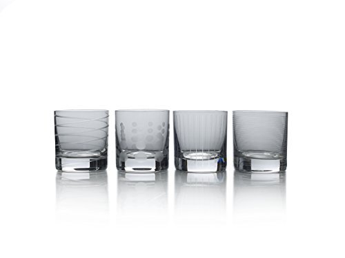(Mikasa Cheers Smoke Double Old Fashioned Glass, 12.75-Ounce, Set of 4)